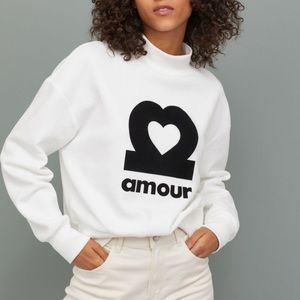 H&M Amour sweatshirt size small